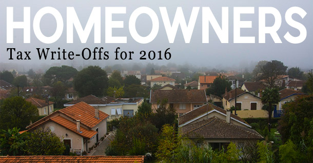Homeowners Tax Write Offs